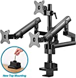 AVLT-Power Triple 27' Monitor Desk Stand - Easy Installation New Top Mounting -Mount Three 15.4 lbs...