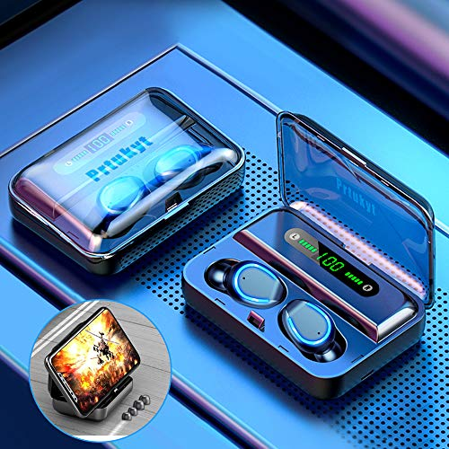 Wireless Bluetooth 5.0 Con Custodia Di Ricarica Wireless IPX8 Cuffie Stereo TWS Impermeabili in-ear Cuffie Microfoniche Integrate Suono Premium Con Auricolari Bassi Profondi Per Lo Sport