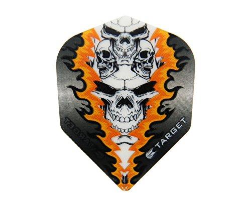 TARGET Pro 100 Vision Flights Quad Skull, 3 Stück (Schwarz)