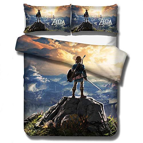 SixyeLiuzhi Zelda Legend Spiel bettwäsche eingestellt einzigen Twin doppel königin könig Cal könig größe bettwäsche Set,180x210cm(3Stück)