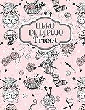 Libro de Dibujo Tricot: Simple Costurera de Diseño Cuaderno | Bitácora para dibujar y crear sus patrones para adultos y niños | Ayudante de Artesano ... cumpleaños para los bordadores y diseñadores