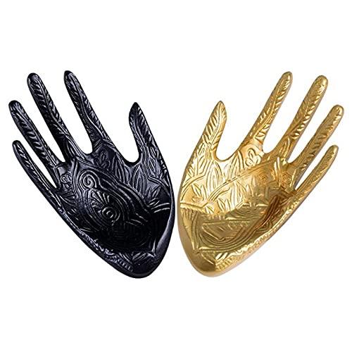 Estante de la joyería Pantalla de la pantalla de la forma de palma Soporte de la exhibición de la resina Organizador de la exhibición de la colgante de la resina para los pendientes collares pulseras