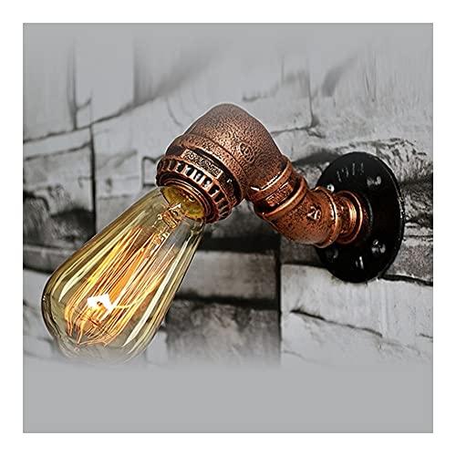 JIADUOBAO Lámpara de pared de hierro creativo arte tubo de agua decoración nostálgico retro industrial pasillo