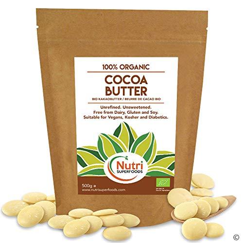 NUEVO LANZAMIENTO - Manteca de cacao organica en gotas / obleas / botones - Sin endulzar - 500g