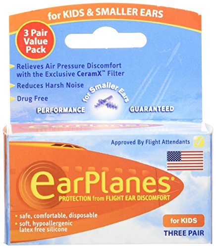 Original Children's EarPlanes by Cirrus Healthcare Ear Plugs Airplane Travel Ear Protection 3...