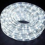 TUBO LUMINOSO 240 LUCI LED BIANCO FREDDO 10 metri CON CONTROLLER 8 FUNZIONI, PER USO INTERNO ED ESTERNO