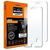 Spigen, 2 Pack, Protector Pantalla iPhone 8 Plus / 7 Plus, Vidrio Templado, Dureza 9H, Compatible con Fundas, Alta Definicion, Sin Burbujas, Anti-Arañazos, Anti-Huellas Dartilares