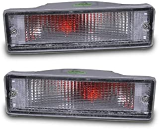 AmeriLite Replacement Clear Bumper Lights Pair for 1988-1997 Nissan Hardbody Pickup / 88-95 Pathfinder - Passenger and Driver Side