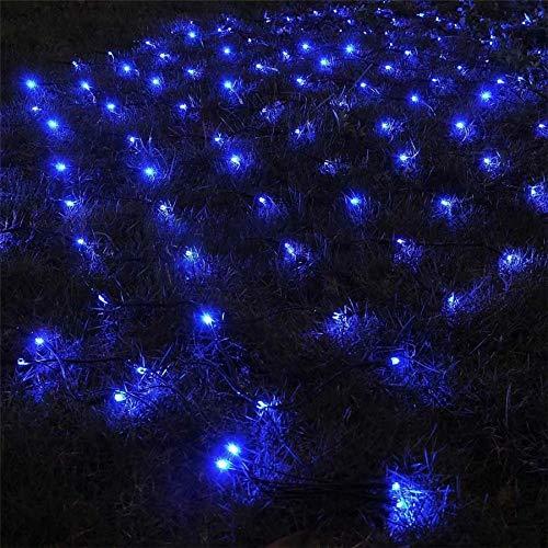 Bigbarry Alta eficiencia 3x2m luz de Malla Secuencia del LED Solar Net 204 Navidad al Aire Libre Jardín Alquiler Patio Trasero Solar Net Garland Light Jieyue (Emitting Color : Blue)