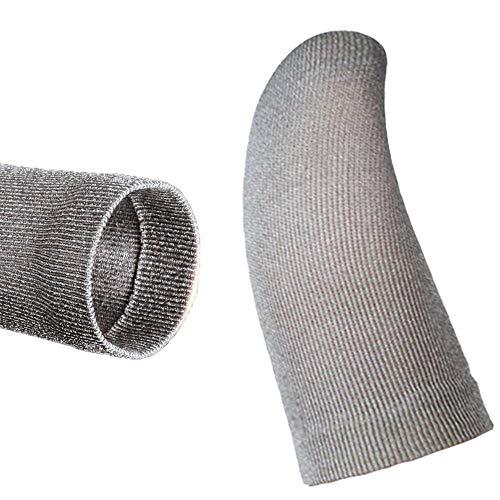 【二層エッジ折り】【10個セット】 スマホゲーム 指サック 0.1mm極薄 PUBG Mobile 荒野行動 対応 音げー スマホ野球ゲーム 異物感がない 手汗&指紋防止 100%銀繊維 高感度 操作性アップ タッチパネル対応 全機種対応