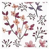 Vinilo Decorativo para Muebles y Pared, 40 x 200 cm, Cerezos en Flor, Color Rosa y Fucsia, Fondo Blanco, VNL-056
