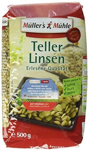 Müller´s Mühle Teller Linsen, 14er Pack (14 x 500 g)