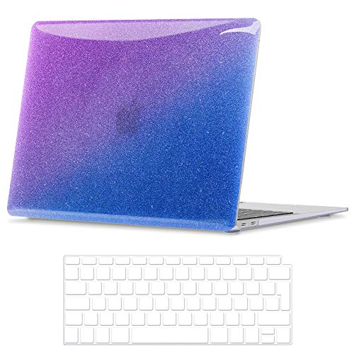 BELK Compatible with MacBook Air 13 Inch Case 2020 2019 2018 Release with Retina Display & Touch ID Model A2337 M1 A2179 A1932, Smooth Pattern Plastic Hard Shell with Keyboard Cover, Gradient