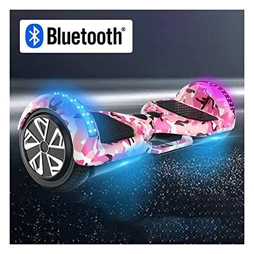 Hoverboard Elektro Skateboard Selbst Balancing Hoverboard for Kinder und Erwachsene, Connect Bluetooth Musik zu Spielen, Laden des 150kg, Höchstgeschwindigkeit 20 km/h, maximale Laufleistung ca. 25