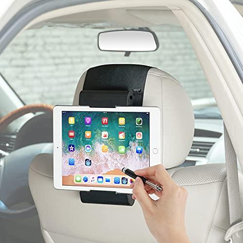 TFY 車用ヘッドレストマウント ユニバーサルタブレットホルダー iPad Pro Air Mini Galaxy Tab その他の4.5~12.9インチの携帯電話 タブレット スイッチに対応 ブラック