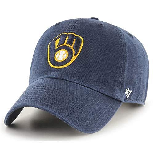 milwaukee brewers '47 Milwaukee Brewers Clean Up Hat Adjustable Navy