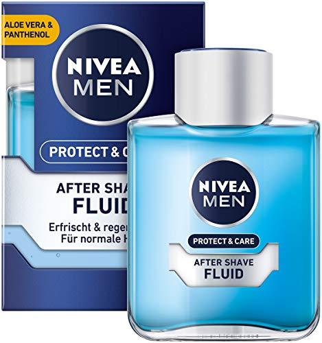 NIVEA MEN Protect & Care After Shave Fluid ( 1 x 100 ml), beruhigendes After Shave, Hautpflege nach der Rasur mit Aloe Vera und Panthenol