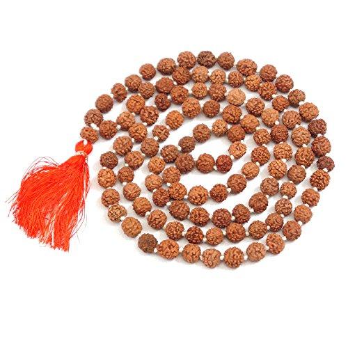 Rudraksha Japa Mala 7 mm  Authentic Indian 108 Beads   Hand-picked   Rosary for chanting by Ikshvaku