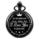 Reloj de Bolsillo Hombre Cuarzo Personalizado SIBOSUN Regalo para mi Hermano Presente con Caja Recuerdo