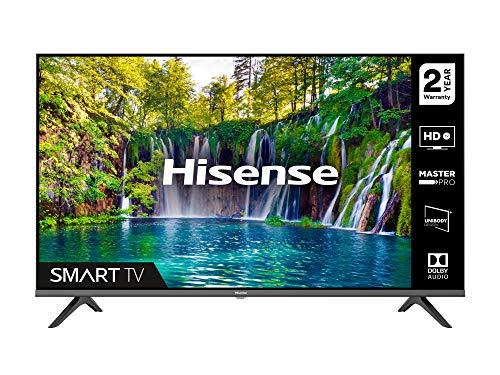 HISENSE 32A5600FTUK 32-inch Full HD 1080P Smart TV with dbx-tv Sound, WiFi, USB Playback, Netflix, Freeview play (2020 series), Black