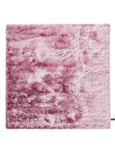 Benuta Teppiche: Shaggy Langflor Hochflor Teppich Whisper Lila 200x200 cm - schadstofffrei - 100% Polyester - Uni - Handgetufted - Wohnzimmer