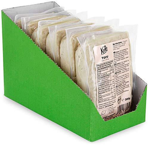 KoRo - Bio Tofu Natur 6x 200 g - Eiweißreicher Allrounder in Bio Qualität