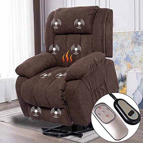 Polar Aurora Power Lift Recliner Massage Chair for Elderly - Electric Home Theater Seating with Heating Function/Remote Control for Living Room