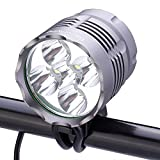 SecurityIng 2500LM 3 Modes Bike Headlight, Waterproof 5 LEDs Bicycle Light, Mountain Bike Front Light Headlamp Bike Light + 8.4V Rechargeable Battery Pack + Charger for Outdoor Riding