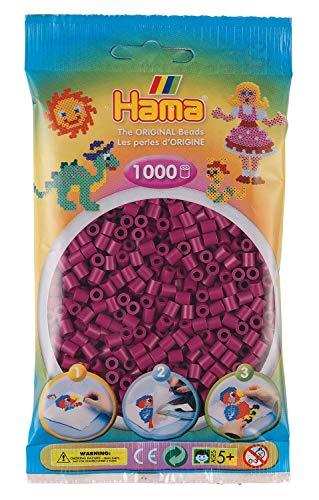 Hama 207-82 Bügelperlen Midi, ca. 1000 Perlen in Pflaume