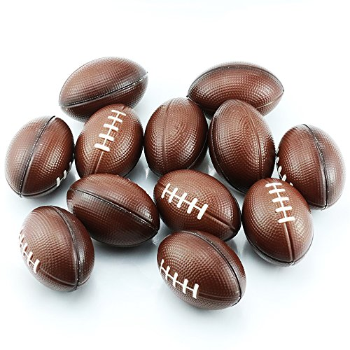 """Etmact Soft Foam Mini Football Stress Balls for Kids 2.5"""" Perfect for Small Hands, 12-Pack Kids Toys Stress Ball Foam Toys Hand Toys Soft Toys Kids Foam Stress Toys Stress Ball Bulk Foam Balls"""