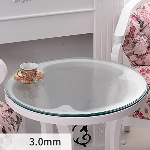 Nappe ronde en verre souple transparent étanche table basse mat PVC plaque de cristal plaque de table , 3.0mm , diameter 90cm
