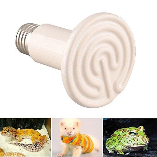 Gladle 220V 100W Reptil-Hitze-Lampe Infrarot-Keramik-Heizung Natural Heat Emitter Appliances Lampenbirne