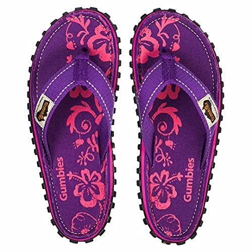 Islander Flip-Flops - Purple Hibiscus (Women's 8/Men's 7   EU 39)
