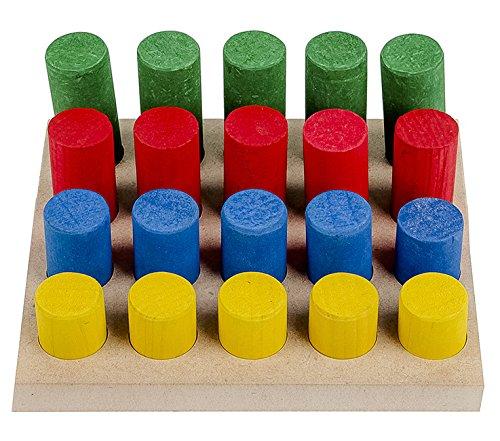 Carlu Brinquedos - Pinos de Encaixe Jogo de Classificação, 4+ Anos, Multicolorido, 1208