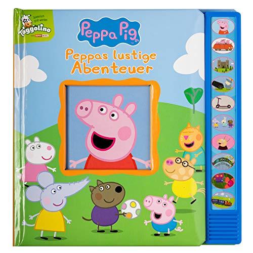 Peppa Pig - Peppas lustige Abenteuer - Vorlese-Pappbilderbuch mit 10 fröhlichen Geräuschen für Kinder ab 3 Jahren