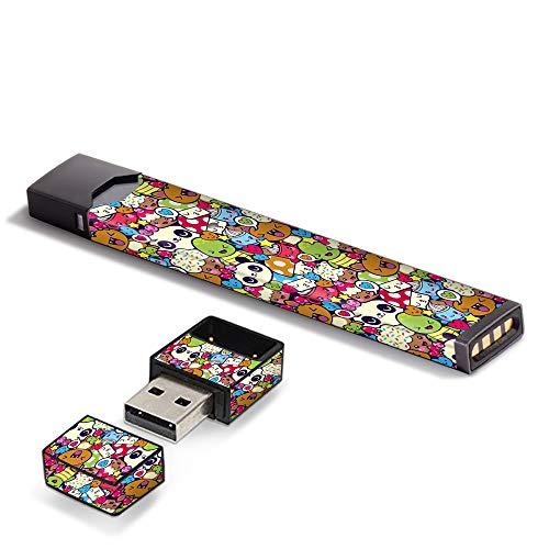 IT'S A SKIN Decal Vinyl Wrap for Pax Juul Pod System Stickers Sleeve/Panda Anime Cartoon stickerslap