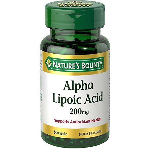 Nature's Bounty Alpha Lipoic Acid 200 mg, Unflavored, 30 Count