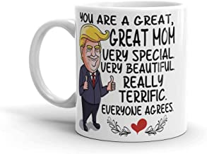 Funny Donald Trump Mother's Day Coffee Mug - You Are A Great Mom Very Special Very Beautiful Really Terrific Everyone Agrees - Idea Gift for Mother Day 11oz