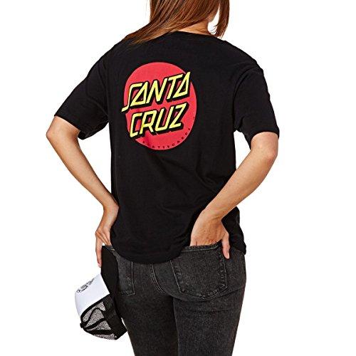 SANTA CRUZ Classic DOT T-Shirt Donna Nero 38 S (Small)