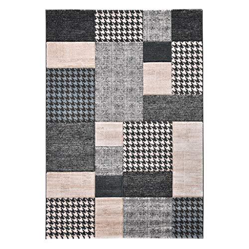 ZHENG Alfombras y Moquetas Alfombras sofá de Flores Cortadas estereoscópica Alfombra y Mesa de café alfombras Antideslizantes 160x230cm 17mm