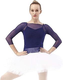 DANCEYOU Balletttrikot Professioneller Ballettrock mit Höschen Tüllrock 7 Lagen Tüll Tutu für Mädchen und Damen