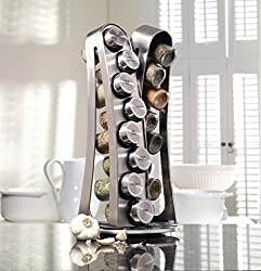 Kamenstein 16-jar Stainless Steel Tower Countertop Spice Racks