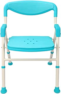 Lightweight Shower Chair Seat,Health Care Bath Chair Stool Adjustable Bath Seat Green Living Room Chair with Arms & Backrest