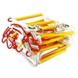 Fire Evacuation Rope Ladder 3-4 Story Homes 10m (32 ft) Safety Ladder with Spring Hooks & Safety Cord