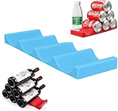 Xiaolanwelc@ Creative Fridge Can Beer Wine Bottle Rack Storage Box Organizer Holder Silicone Mat Stacking Tidy Tool Kitchen Gadgets Bar Tools