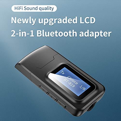 Yjiing USB-Bluetooth-Adapter, 3,5-mm-Audioempfänger, Senderempfänger für TV/Auto/PC, Bluetooth-Netzwerkadapter