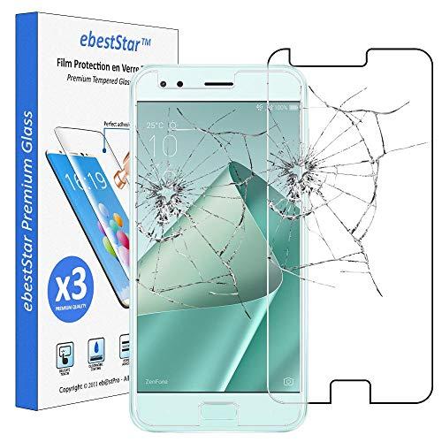 ebestStar - kompatibel mit Asus Zenfone 4 Panzerglas x3 ZE554KL Schutzfolie Glas, Schutzglas Bildschirmschutz, Bildschirmschutzfolie 9H gehärtes Glas [Phone: 155.4 x 75.2 x 7.7mm, 5.5'']