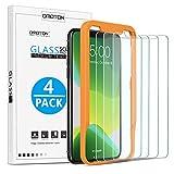 OMOTON [4 Stück] Schutzfolie für iPhone 11 Pro Max/iPhone XS Max, Bildschirmschutzfolie mit Positionierhilfe, Anti- Kratzer, Bläschenfrei,9H Festigkeit, HD-Klar, [2.5D R&e Kante]