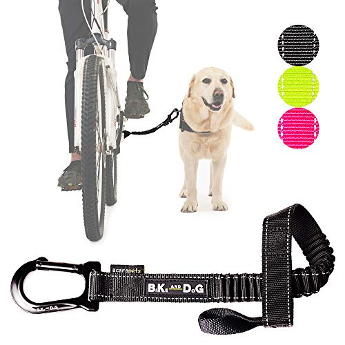 BIKE AND DOG Leash: Designed to take one or More Dogs with a Bicycle Patented Product