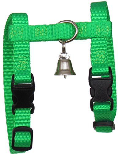 Sandia Pet Products Neon Green Ferret Harness with Bell